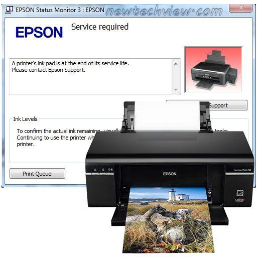 نرم افزار ریست Epson P50 - T50